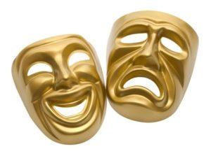 Gold movie masks